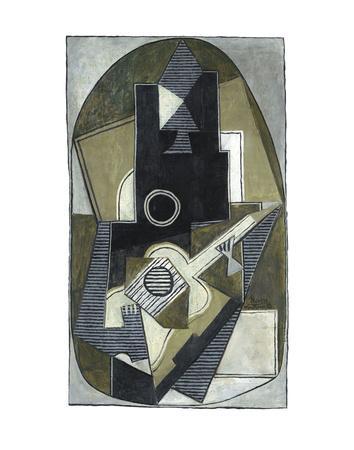 L'Homme a la Guitare, 1918-Pablo Picasso-Art Print
