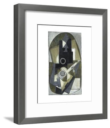 L'Homme a la Guitare, 1918-Pablo Picasso-Framed Art Print