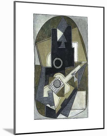 L'Homme a la Guitare, 1918-Pablo Picasso-Mounted Art Print