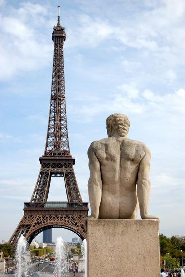 L'Homme and the Eiffel Tower, Paris--Photographic Print