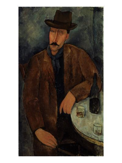 L'Homme au Verre de Vin, c.1918-19-Amedeo Modigliani-Giclee Print