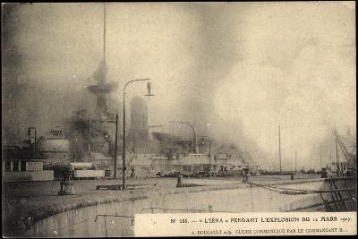 L'Iéna, Explosion Du 12 Mars 1907, Kriegsschiff--Giclee Print