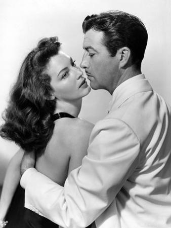 L'ile au complot THE BRIBE by RobertLeonard with Ava Gardner and Robert Taylor, 1949 (b/w photo)