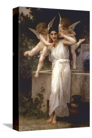 L'Innocence-William Adolphe Bouguereau-Stretched Canvas Print