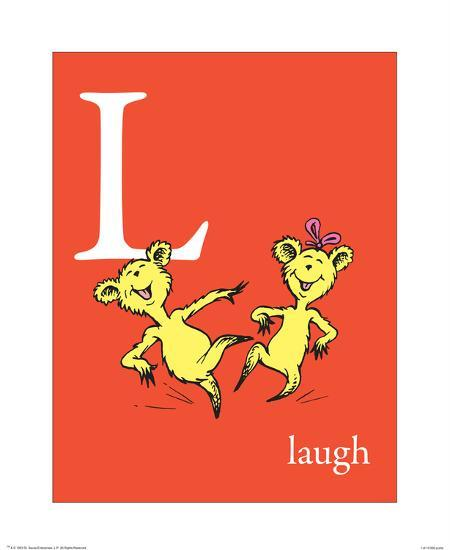 L is for Laugh (red)-Theodor (Dr. Seuss) Geisel-Art Print