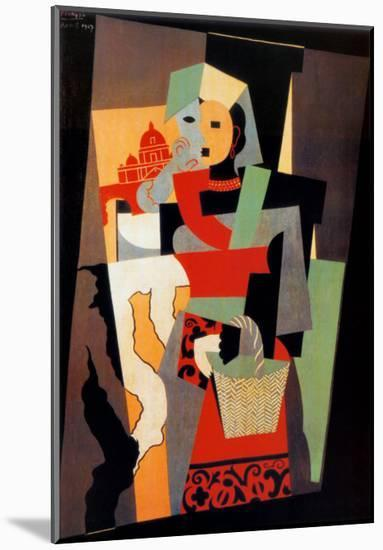 L'Italienne, c.1917-Pablo Picasso-Mounted Art Print