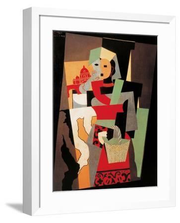 L'Italienne, c.1917-Pablo Picasso-Framed Art Print