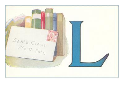 L, Letter to Santa Claus--Art Print