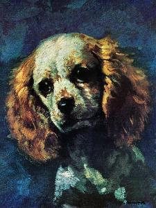 """Cocker Spaniel,"" March 1, 1975 by L^ Mayer"