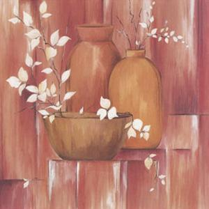 Pots and White Branches I by L. Morales