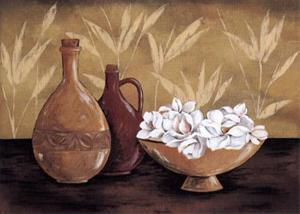 Still Life and White Bloom II by L. Morales