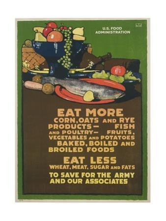 Eat More Corn, Oats and Rye Poster