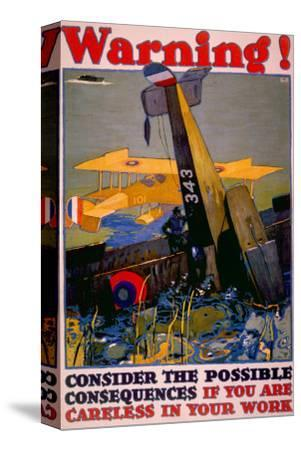 World War I American Homefront Aircraft Production War Work Poster, 1917