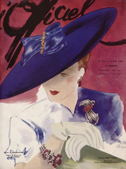 L'Officiel, June 1939 - Rose Valois-Lbenigni-Art Print