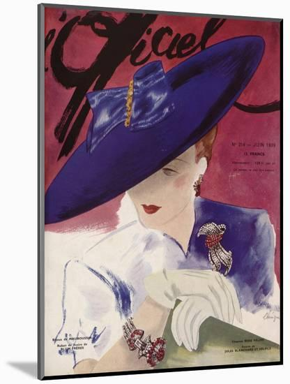 L'Officiel, June 1939 - Rose Valois-Lbenigni-Mounted Art Print