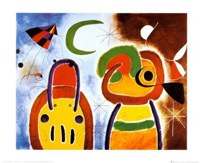 L'Oiseau au Plumage Deploye-Joan Mir?-Art Print