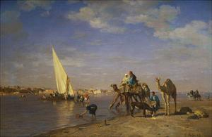By the Nile by L?on Adolphe Auguste Belly
