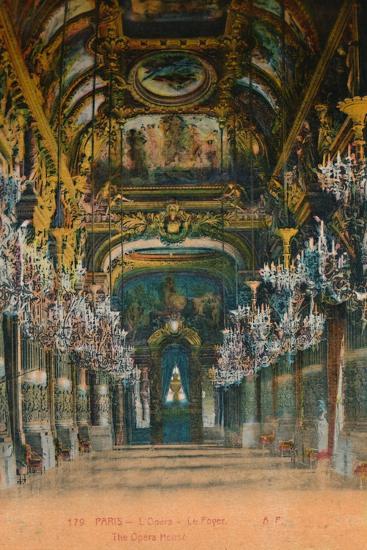 L'Opéra Garnier - the foyer, Paris, c1920-Unknown-Giclee Print