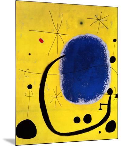 L'Oro dell' Azzurro-Joan Mir?-Mounted Print