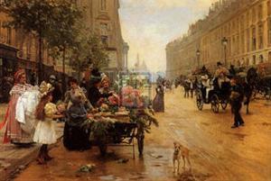 Rue Royale, Paris by L^ Shryver