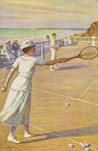 Mixed Doubles by the Sea by L. Tanquerey