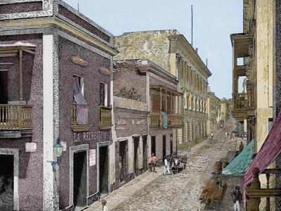 Puerto Rico,Calle de San José y Palacio de La Intendencia, La Ilustracion E