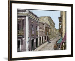 Puerto Rico,Calle de San José y Palacio de La Intendencia, La Ilustracion E by L. Urgellés