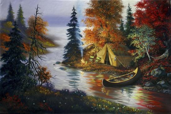 L27 Tent Canoe-D. Rusty Rust-Giclee Print