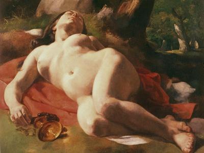La Bacchante, C.1844-47-Gustave Courbet-Giclee Print