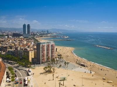 La Barceloneta, Platja De La Barceloneta, Barcelona, Spain-Alan Copson-Photographic Print