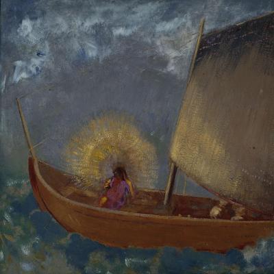La Barque Mystique, c.1897-Odilon Redon-Giclee Print
