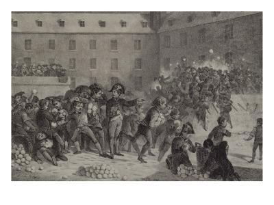 La bataille de boules de neige au collège de Brienne-Denis Auguste Marie Raffet-Giclee Print