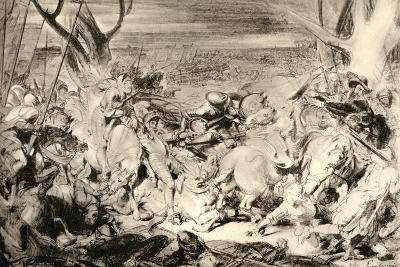 La Bataille De Dreux, 1913-Eugene Delacroix-Giclee Print