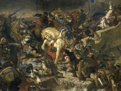 La Bataille de Taillebourg-Eugene Delacroix-Giclee Print