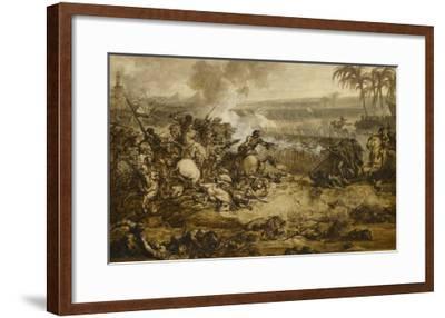 La bataille des Pyramides (21 Juillet 1798) ; esquisse-Francois Andre Vincent-Framed Giclee Print