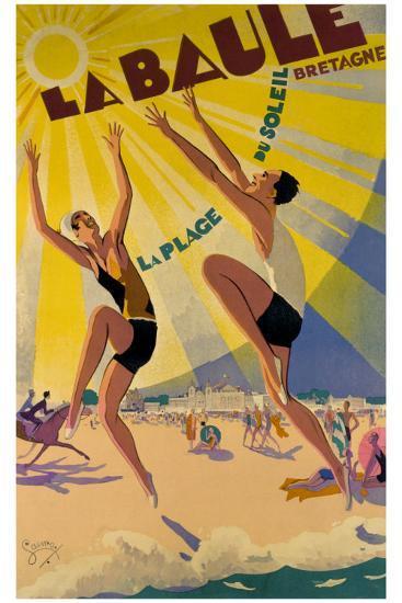 La Baule-Maurice Lauro-Giclee Print