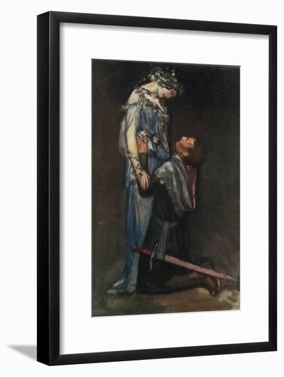 La Belle Dame Sans Merci by John Keats-Robert Anning Bell-Framed Giclee Print