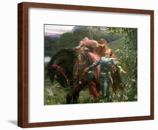 La Belle Dame Sans Merci, Exh.1902-Frank Bernard Dicksee-Framed Premium Giclee Print