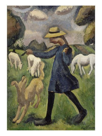 La bergère. Marie Ressort enfant-Roger de La Fresnaye-Giclee Print