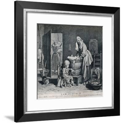 La Blanchisseuse, 18th century, (1916)-Charles Nicolas Cochin-Framed Giclee Print