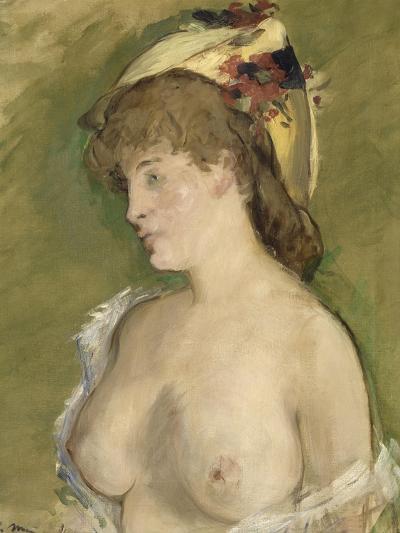 La blonde aux seins nus-Edouard Manet-Giclee Print