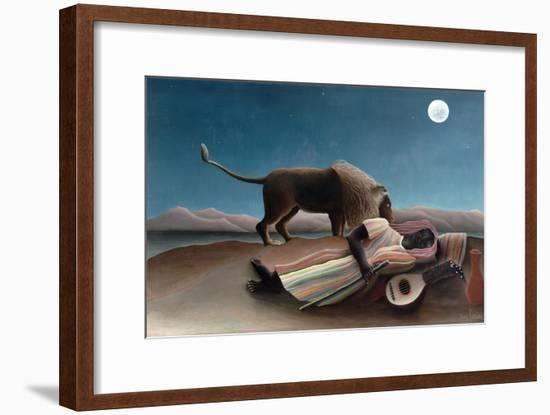La Bohémienne Endormie (The Sleeping Gypsy) by Henri Rousseau-Henri Rousseau-Framed Giclee Print