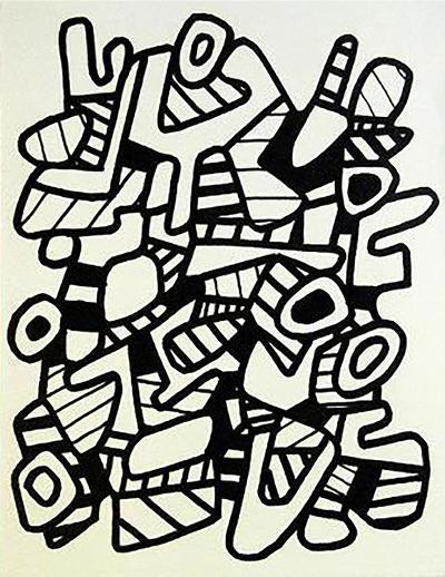 La Botte A Nique-Jean Dubuffet-Collectable Print