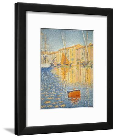 La boue rouge. The red buoy. St. Tropez 1895. Oil on canvas 81 x 65 cm R. F. 1957-12.-PAUL SIGNAC-Framed Giclee Print