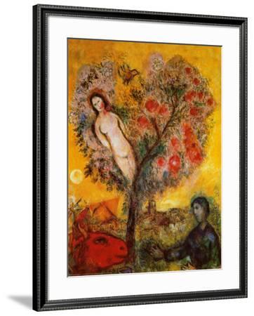 La Branche-Marc Chagall-Framed Art Print