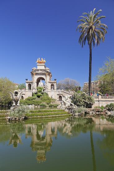 La Cascada, fountain with Quadriga de l'Auroa, architect Josep Fontsere, Parc de la Ciutadella, Bar-Markus Lange-Photographic Print
