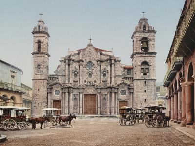 La Catedral, Havana, Cathedral of the Virgin Mary of the Immaculate Conception-William Henry Jackson-Photo