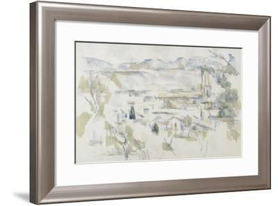 La cathédrale d'Aix-Paul C?zanne-Framed Giclee Print