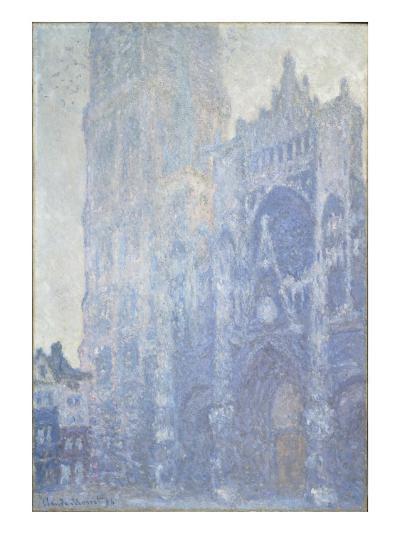 La cathédrale de Rouen. Le portail et la tour Saint-Romain, effet du matin-Claude Monet-Giclee Print