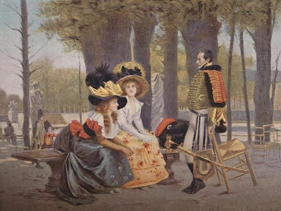'La Causerie. - Life in Paris in 1793', (1896)-Unknown-Giclee Print
